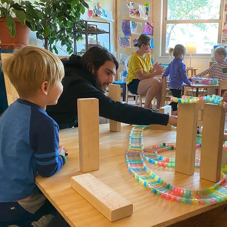 Teacher and student Boulder Journey School