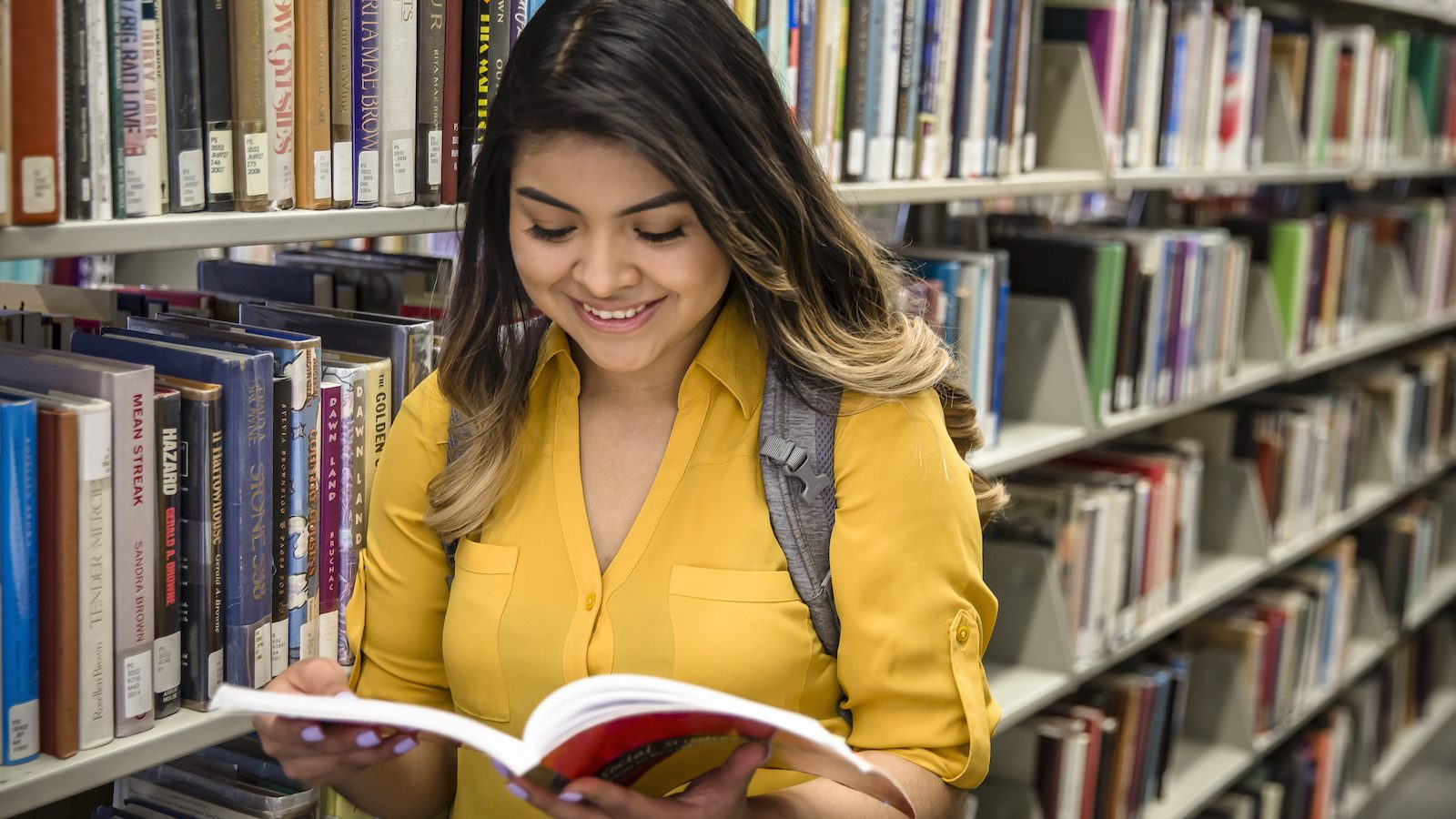 SEHD Student in Library